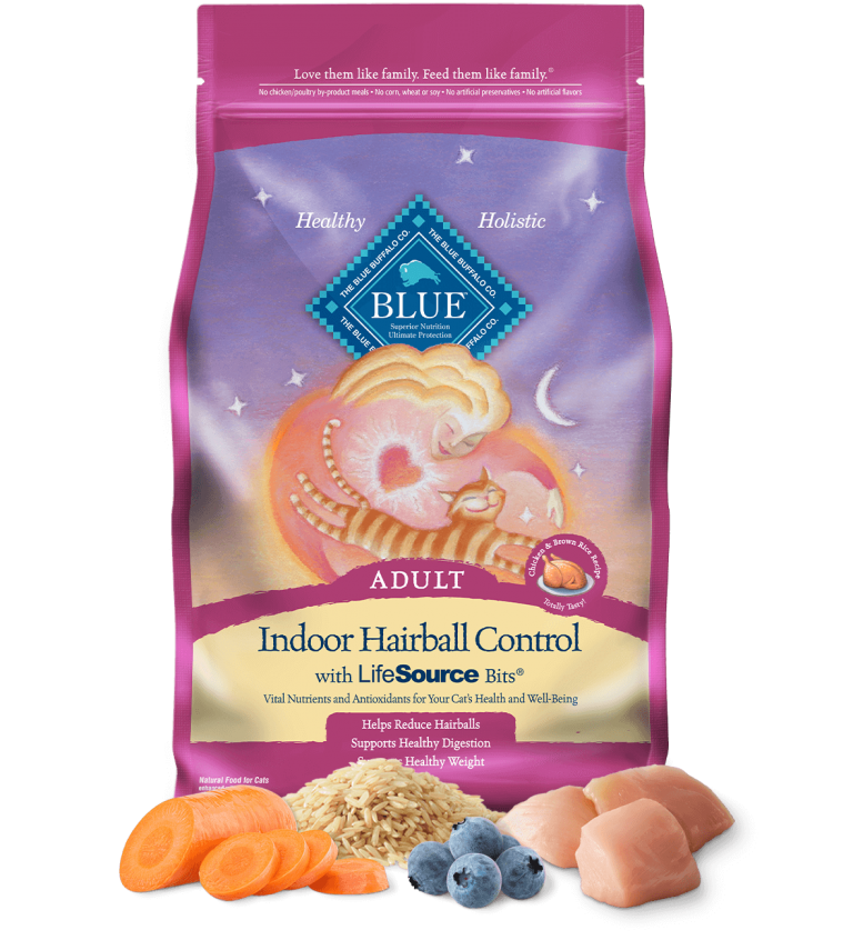 Blue Buffalo Indoor Hairball Control Adult Chicken & Brown Rice Recipe Dry Cat Food