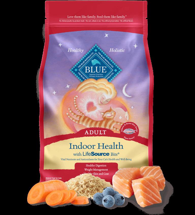 Blue Buffalo Indoor Health Adult Salmon & Brown Rice Recipe Dry Cat Food