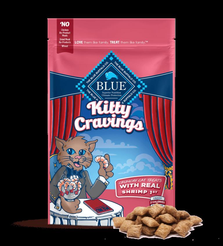Blue Buffalo Kitty Cravings Crunchy Cat Treats With Real Shrimp