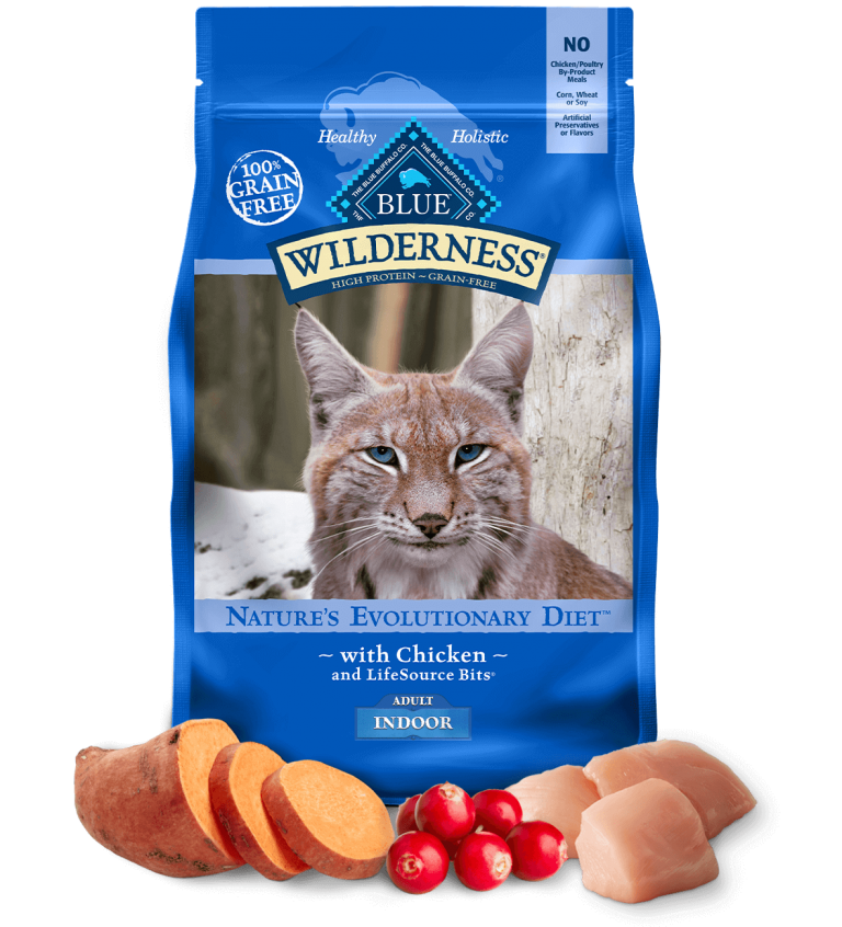 Blue Buffalo Wilderness Adult Indoor With Chicken Dry Cat Food