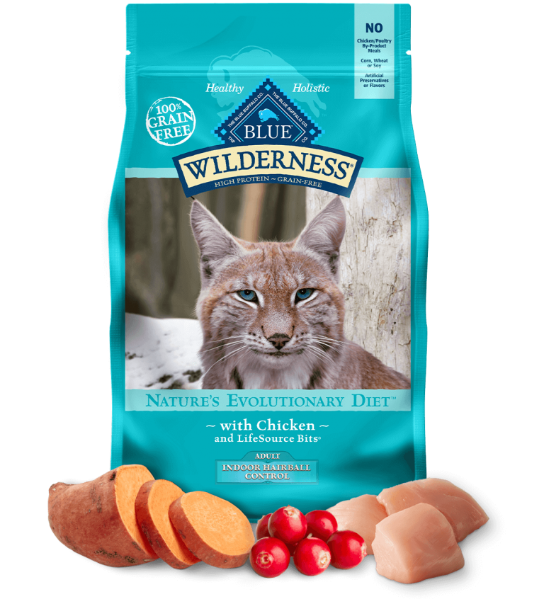 Blue Buffalo Wilderness Adult Indoor Hairball Control With Chicken Dry Cat Food