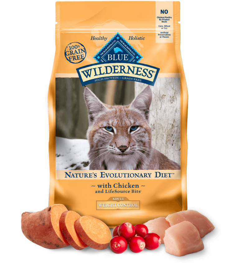 Blue Buffalo Wilderness Adult Weight Control With Chicken Dry Cat Food