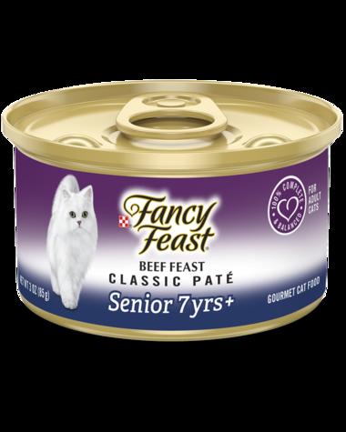 Fancy Feast Classic Paté Beef Feast Senior 7+ Wet Cat Food