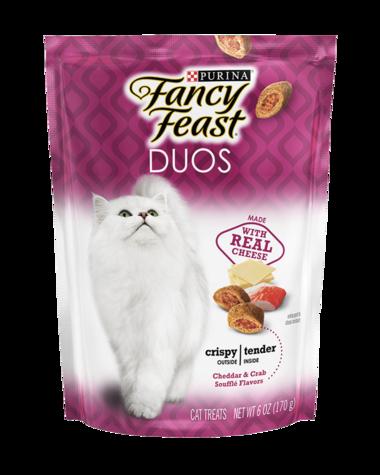 Fancy Feast Duos Cheddar & Crab Soufflé Flavors Cat Treats