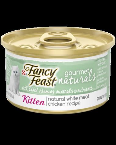 Fancy Feast Gourmet Naturals Natural White Meat Chicken Recipe Wet Kitten Food