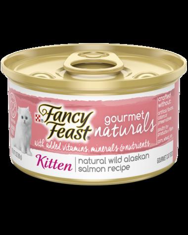 Fancy Feast Gourmet Naturals Natural Wild Alaskan Salmon Recipe Wet Kitten Food
