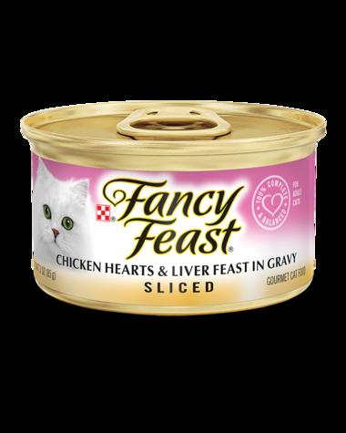 Fancy Feast Sliced Chicken Hearts & Liver Feast In Gravy Wet Cat Food