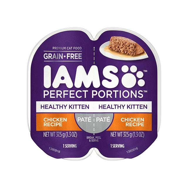 IAMS Perfect Portions Healthy Kitten Chicken Recipe Paté Wet Cat Food
