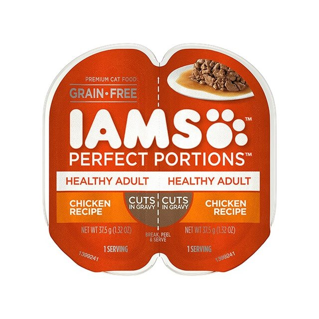 IAMS Perfect Portions Healthy Adult Chicken Recipe Cuts In Gravy Wet Cat Food