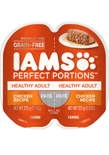 IAMS Perfect Portions Healthy Adult Chicken Recipe Paté Wet Cat Food