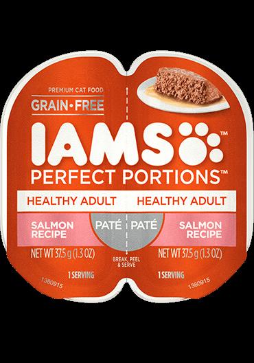IAMS Perfect Portions Healthy Adult Salmon Recipe Paté Wet Cat Food