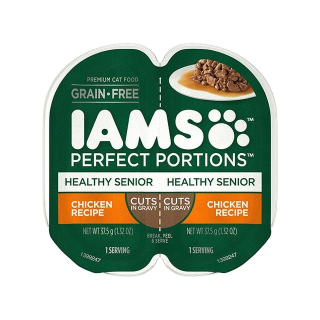 IAMS Perfect Portions Healthy Senior Chicken Recipe Cuts In Gravy Wet Cat Food