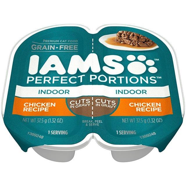 IAMS Perfect Portions Indoor Chicken Recipe Cuts In Gravy Wet Cat Food