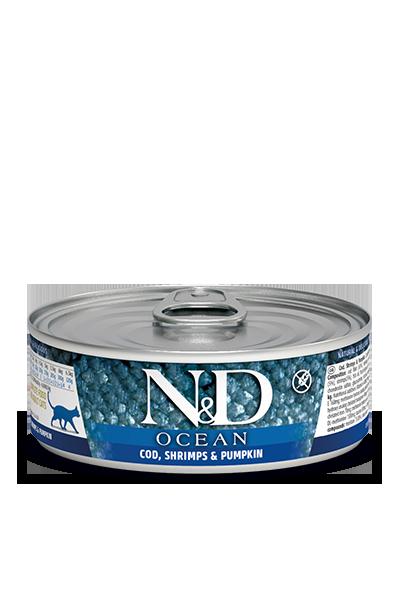 Farmina N&D Ocean Cod, Shrimps & Pumpkin Wet Cat Food