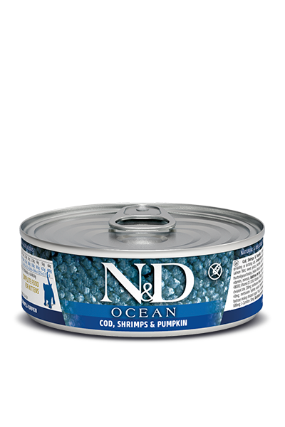 Farmina N&D Ocean Cod, Shrimps & Pumpkin Wet Kitten Food
