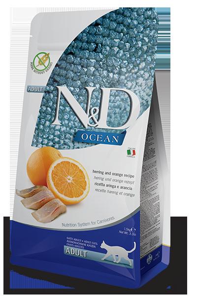 Farmina N&D Ocean Herring & Orange Recipe Adult Dry Cat Food
