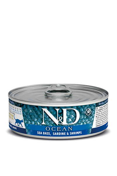 Farmina N&D Ocean Sea Bass, Sardine & Shrimps Wet Cat Food