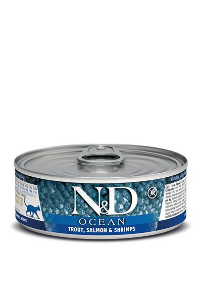 Farmina N&D Ocean Trout, Salmon & Shrimps Wet Cat Food
