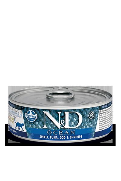 Farmina N&D Ocean Small Tuna, Cod & Shrimps Wet Cat Food
