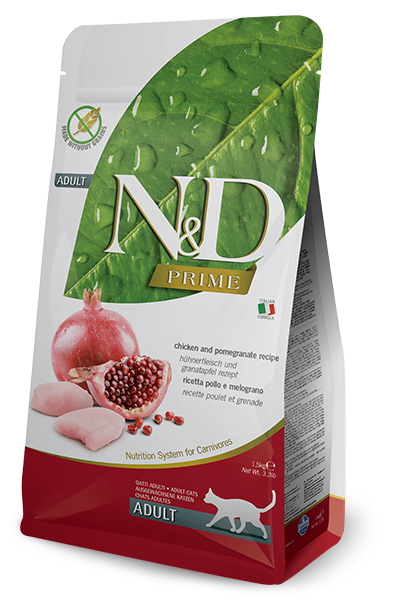 Farmina N&D Prime Chicken & Pomegranate Recipe Adult Dry Cat Food