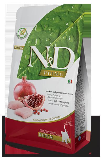 Farmina N&D Prime Chicken & Pomegranate Recipe Dry Kitten Food