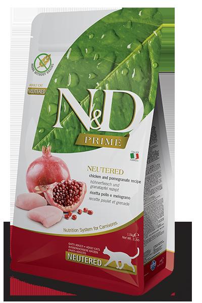 Farmina N&D Prime Chicken & Pomegranate Recipe Neutered Adult Dry Cat Food