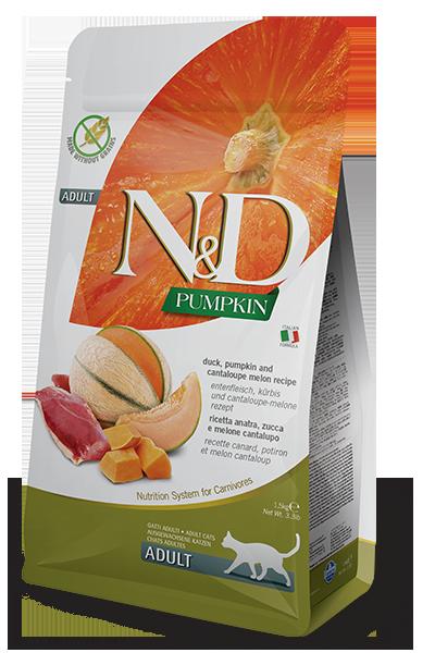 Farmina N&D Pumpkin Duck, Pumpkin & Cantaloupe Melon Recipe Adult Dry Cat Food