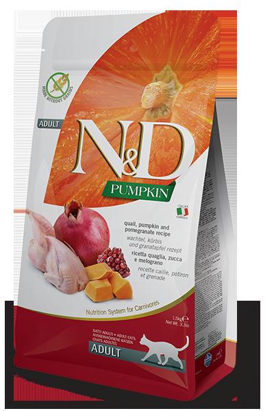 Farmina N&D Pumpkin Quail, Pumpkin & Pomegranate Recipe Adult Dry Cat Food