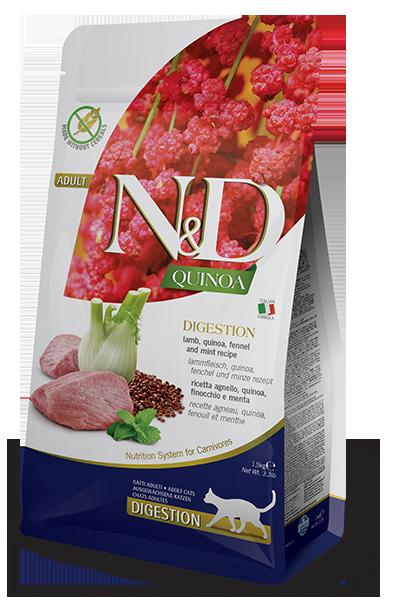 Farmina N&D Quinoa Digestion Lamb, Quinoa, Fennel & Mint Recipe Dry Cat Food