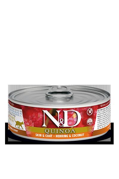 Farmina N&D Quinoa Skin & Coat Herring & Coconut Wet Cat Food