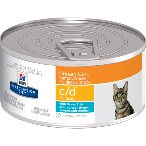 Hill's Pet Prescription Diet C/D Urinary Care With Ocean Fish Wet Cat Food