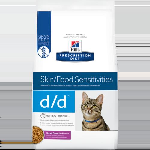 Hill's Pet Prescription Diet D/D Skin/Food Sensitivities Duck & Green Pea Formula Dry Cat Food