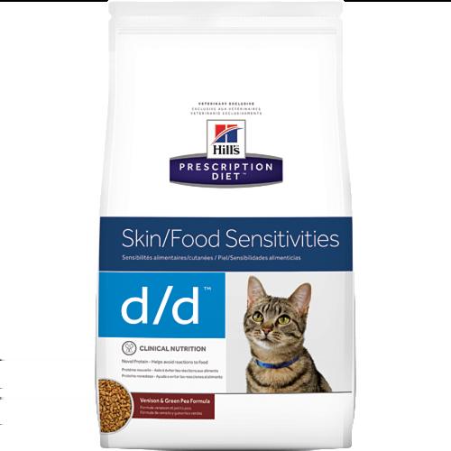 Hill's Pet Prescription Diet D/D Skin/Food Sensitivities Venison & Green Pea Formula Dry Cat Food