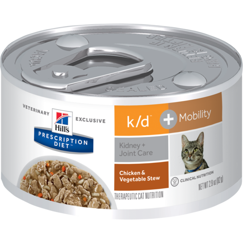 Hill's Pet Prescription Diet K/D + Mobility Chicken & Vegetable Stew Wet Cat Food