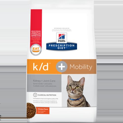 Hill's Pet Prescription Diet K/D + Mobility Chicken Flavor Dry Cat Food