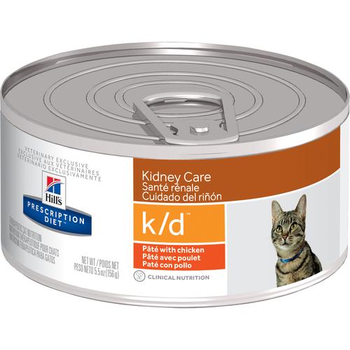 Hill's Pet Prescription Diet K/D Kidney Care Paté With Chicken Wet Cat Food