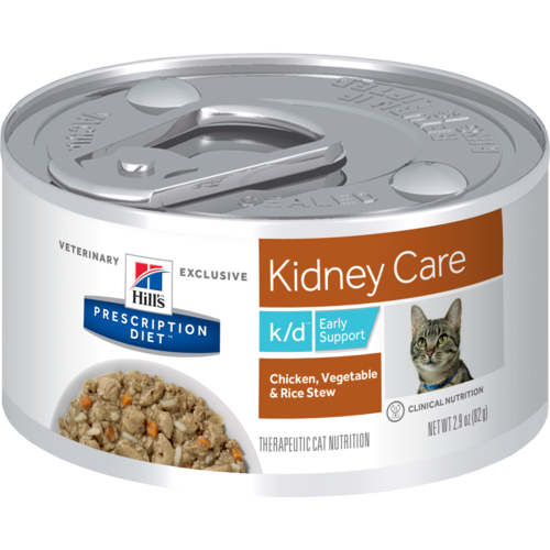 Hill's Pet Prescription Diet K/D Early Support Kidney Care Chicken, Vegetable & Rice Stew Wet Cat Food