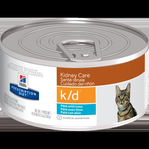 Hill's Pet Prescription Diet K/D Kidney Care Paté With Tuna Wet Cat Food (EU)