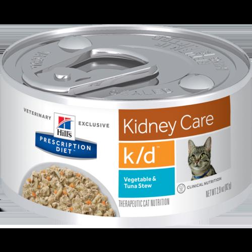 Hill's Pet Prescription Diet K/D Kidney Care Vegetable & Tuna Stew Wet Cat Food