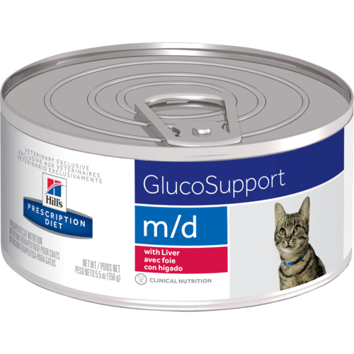Hill's Pet Prescription Diet M/D GlucoSupport With Liver Wet Cat Food