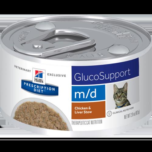 Hill's Pet Prescription Diet M/D GlucoSupport Chicken & Liver Stew Wet Cat Food