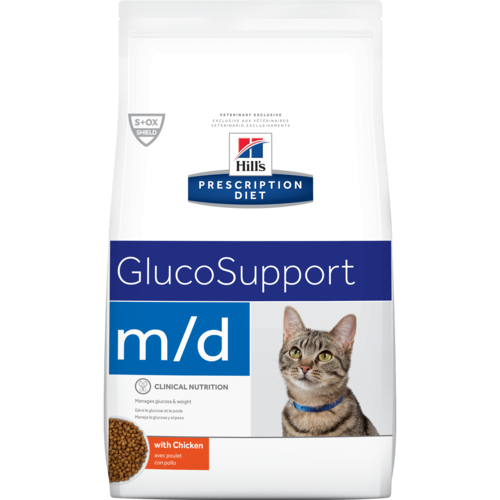 Hill's Pet Prescription Diet M/D GlucoSupport With Chicken Dry Cat Food
