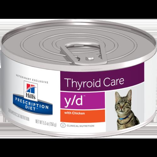 Hill's Pet Prescription Diet Y/D Thyroid Care With Chicken Wet Cat Food