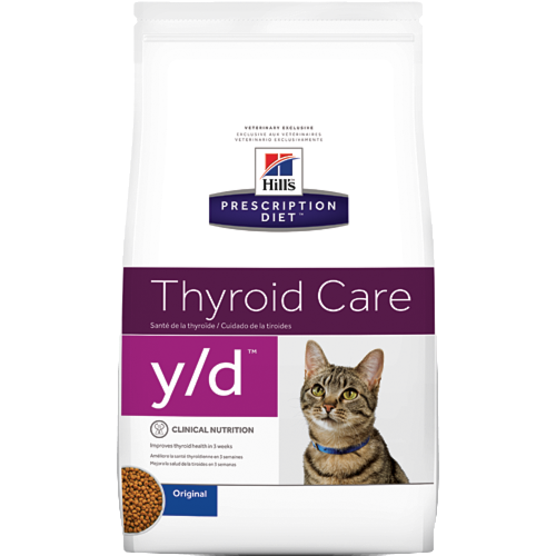 Hill's Pet Prescription Diet Y/D Thyroid Care With Chicken Dry Cat Food