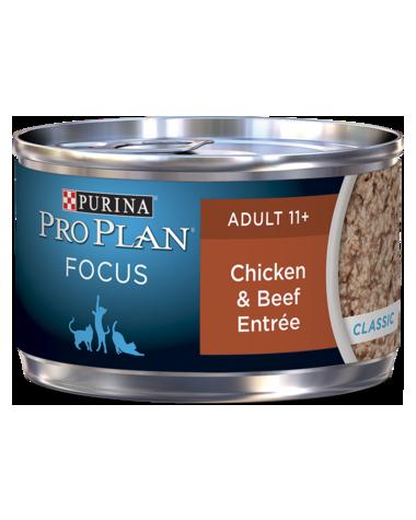 Purina Pro Plan Focus Adult 11+ Chicken & Beef Entrée Wet Cat Food