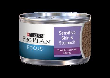 Purina Pro Plan Focus Sensitive Skin & Stomach Tuna & Oat Meal Entrée Wet Cat Food