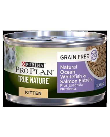 Purina Pro Plan True Nature Natural Ocean Whitefish & Salmon Entrée Wet Kitten Food