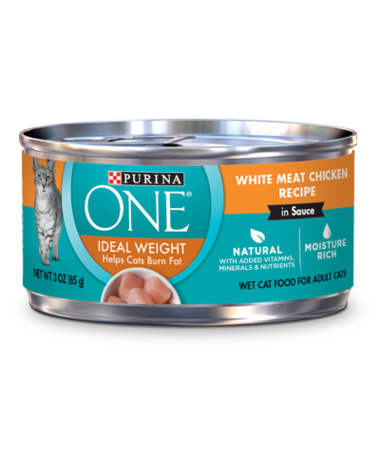 Purina ONE Ideal Weight White Meat Chicken Recipe In Sauce Wet Cat Food