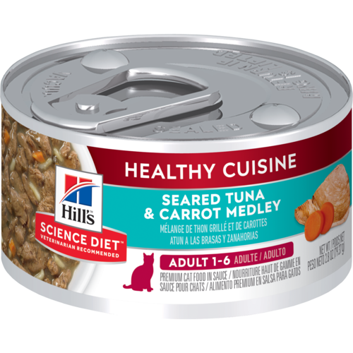 Hill's Pet Science Diet Adult 1-6 Healthy Cuisine Seared Tuna & Carrot Medley Wet Cat Food