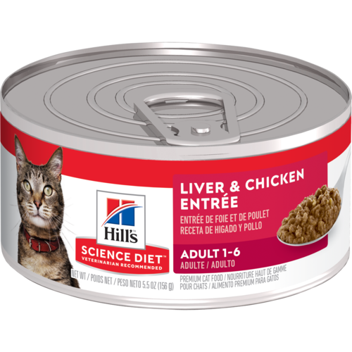 Hill's Pet Science Diet Adult 1-6 Liver & Chicken Entrée Wet Cat Food